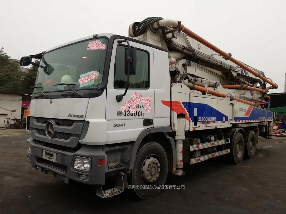 兴昌达2012年中联重科47米奔驰底盘二手混凝土泵车,广东牌
