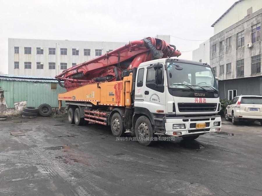 2014年绿标56米c8三一重工泵车,五十铃底盘