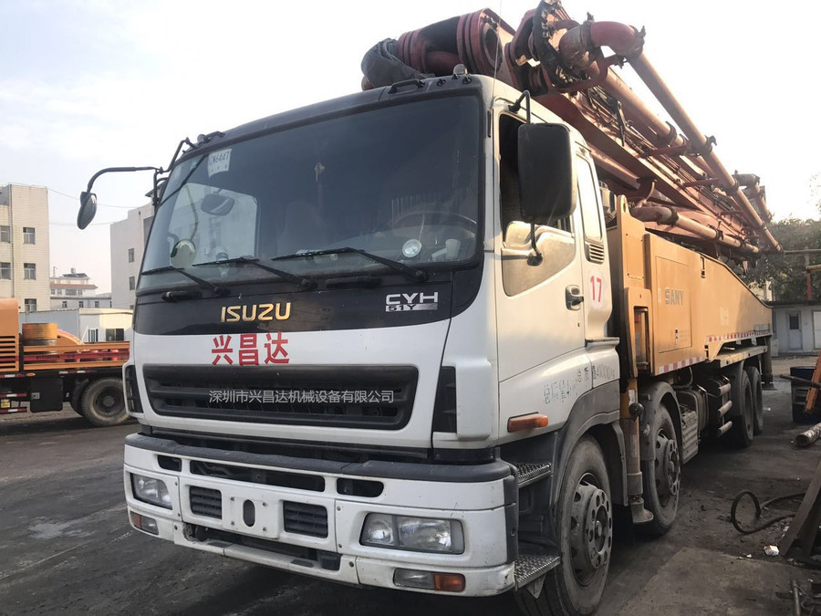 2013年56米三一重工泵车,广东牌