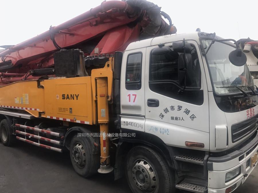 2013年国三绿标56米三一重工泵车,五十铃底盘