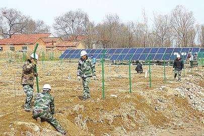 济阳街道光伏发电项目正在建设。