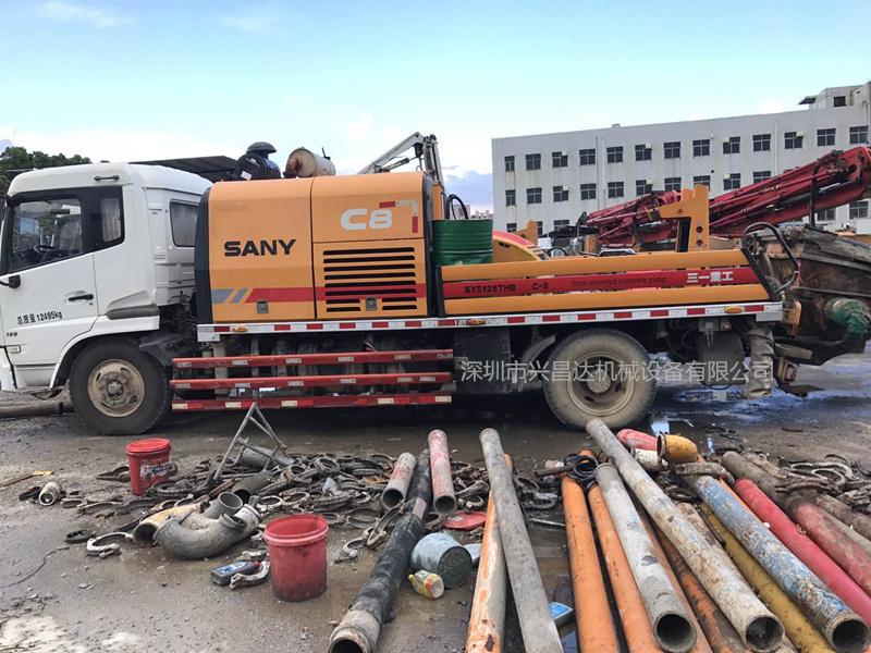 兴昌达2014年三一重工c8高压混凝土车载泵10020